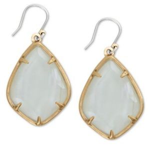 Lucky Brand Gold-Tone White Drop Earrings